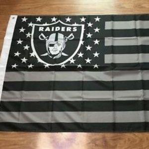 Oakland Raiders American 3x5 Foot Flag